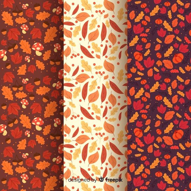 Collezione modello autunno design piatto Vettore gratuito