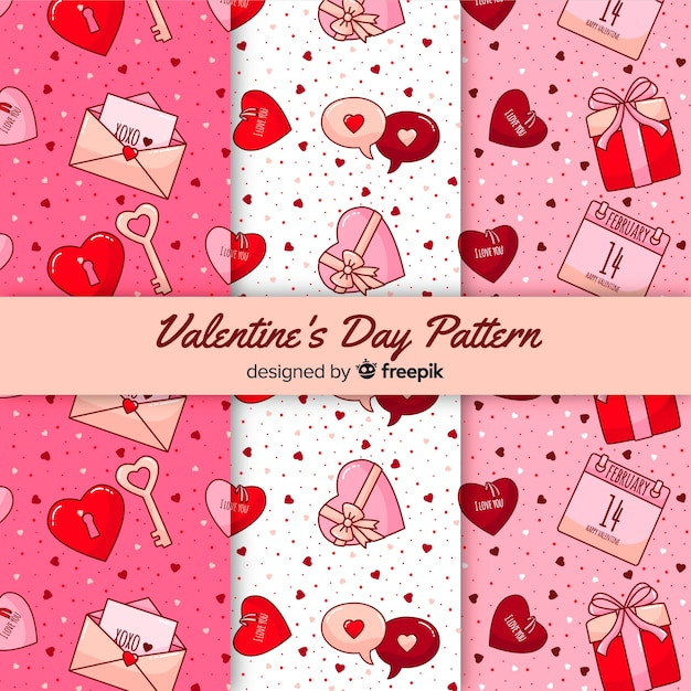 Collezione modello di san valentino Vettore gratuito