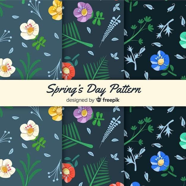 Collezione modello primavera Vettore gratuito