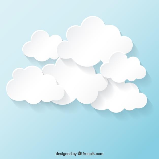Collezione nuvole bianche Vettore gratuito