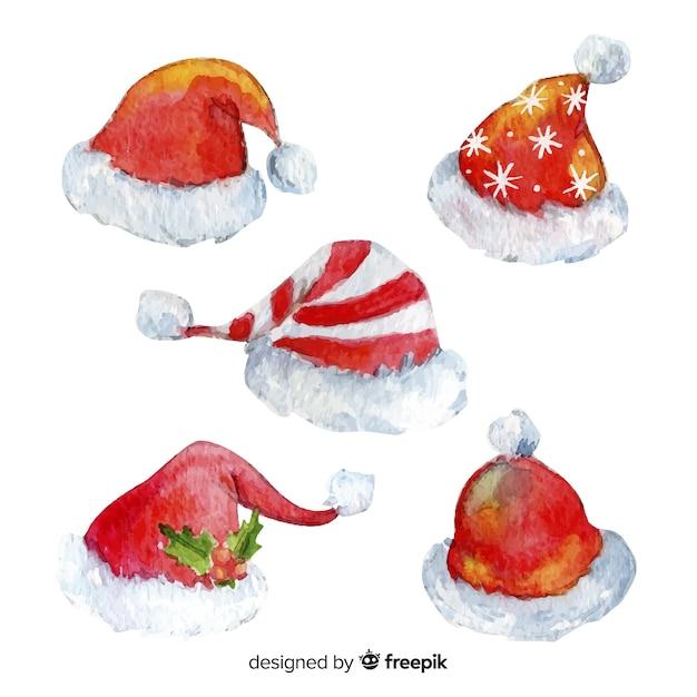 Babbo Natale Originale.Collezione Originale Dell Acquerello Di Babbo Natale Scaricare