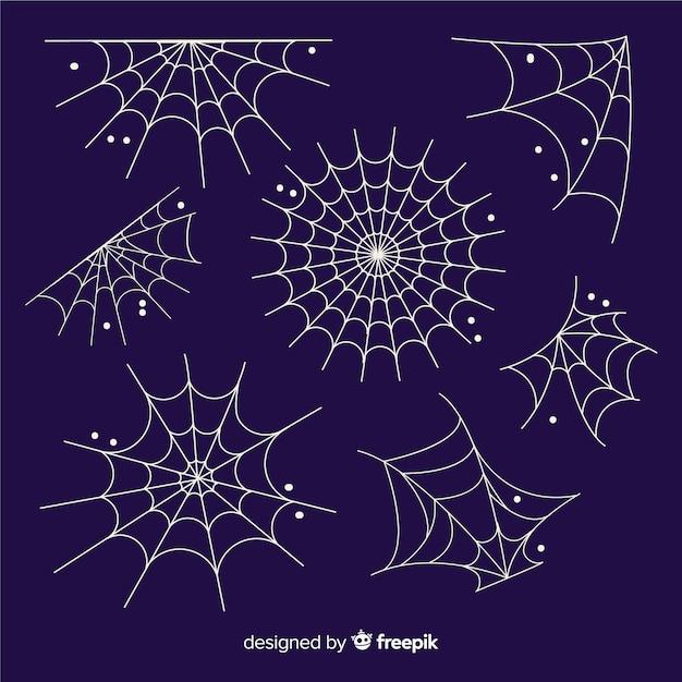 Collezione ragnatela di halloween disegnata a mano Vettore gratuito