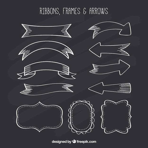 Collezione Ribbond Cornici E Frecce In Stile Lavagna Scaricare