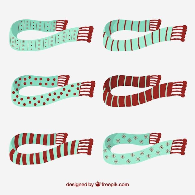 Collezione sciarpe Vettore gratuito