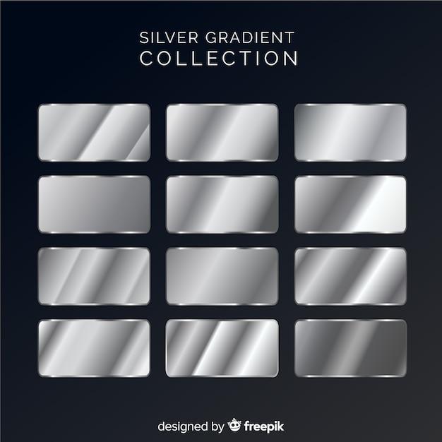 Collezione sfumata argento Vettore gratuito