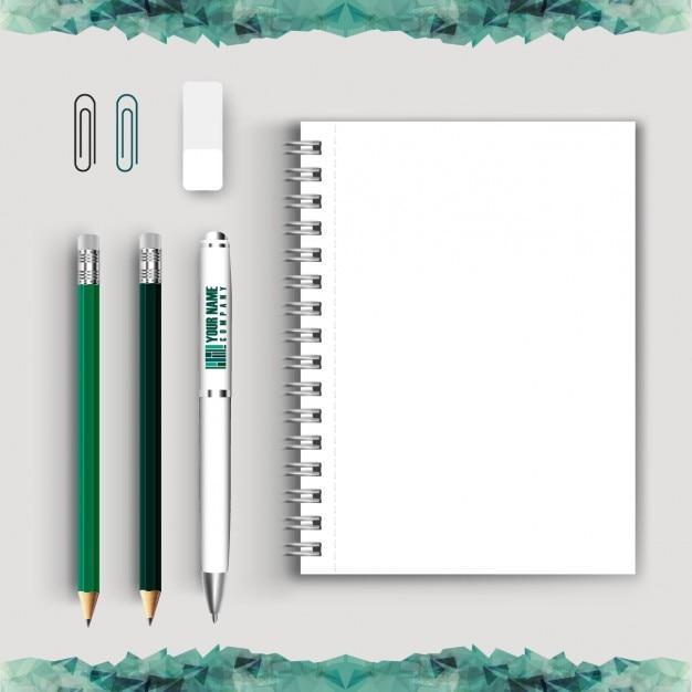 Collezione strumento di scrittura Vettore gratuito