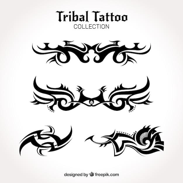 Collezione tribale tatuaggio Vettore gratuito