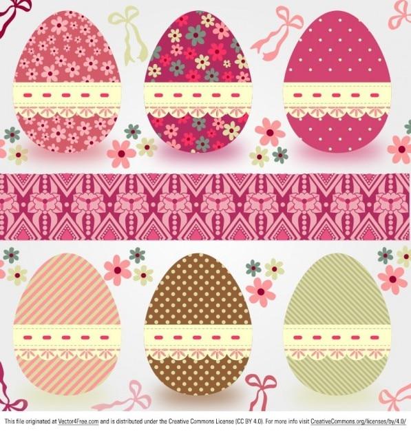 Colorate uova di pasqua modello scaricare vettori gratis - Modello di uovo stampabile gratuito ...