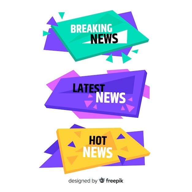 Colorati ultimi nuovi banner Vettore gratuito