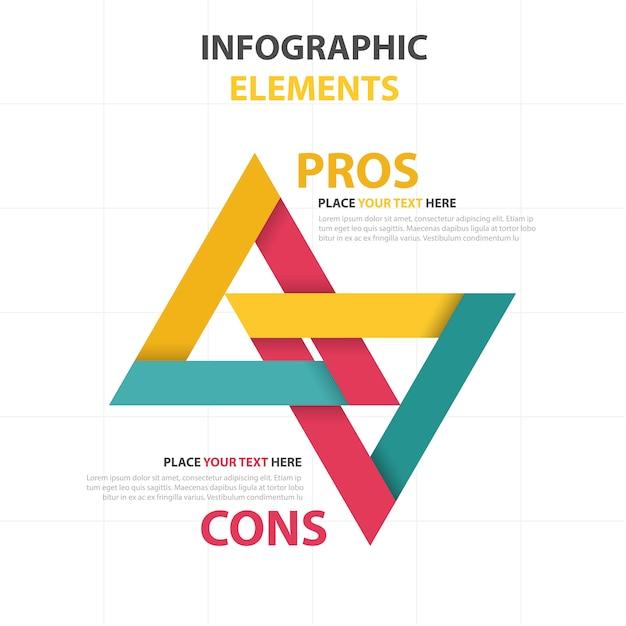 Colorato astratto triangolo modello di business infografica Vettore gratuito