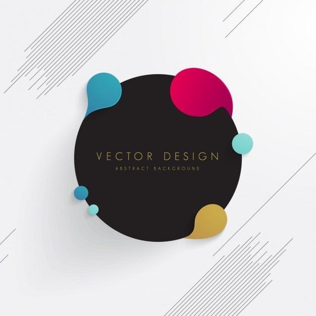 Colorato astratto Vettore gratuito