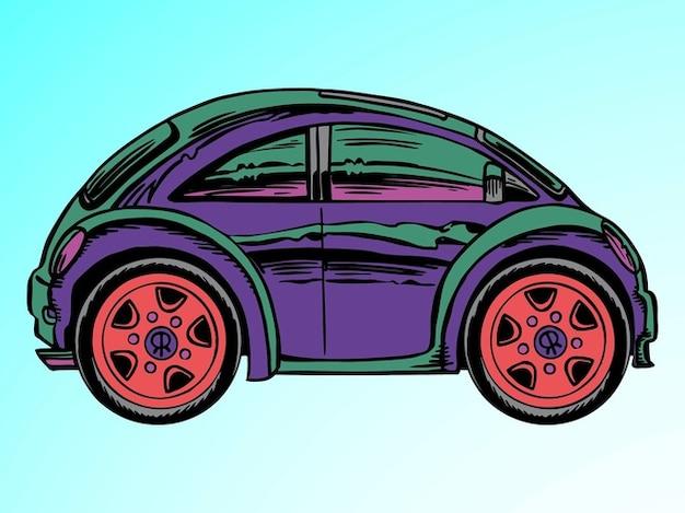 Colorato cartone animato vettore icona auto scaricare
