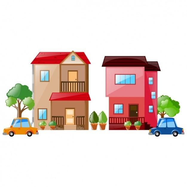 Colorato case di design scaricare vettori gratis for Designer di case virtuali gratis