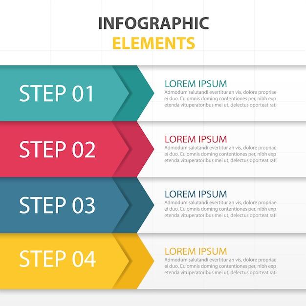 colorato modello di business infografica abstracttriangle Vettore gratuito