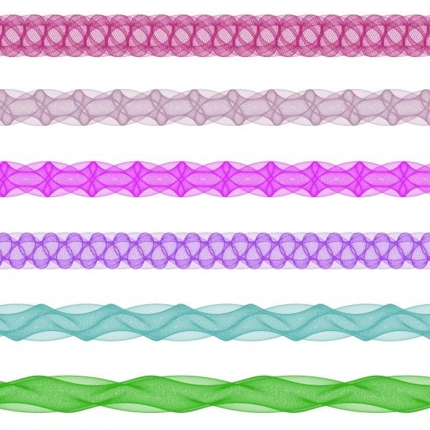 Colorato separatori frattali collezione Vettore gratuito