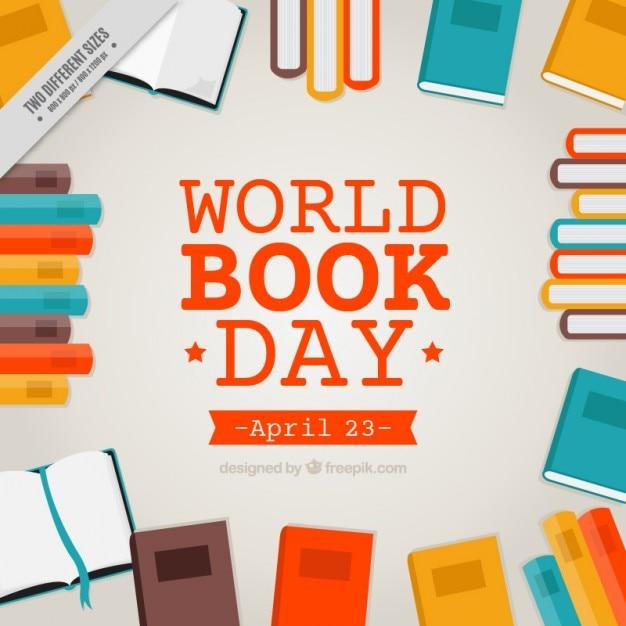 Colorato sfondo di libri Vettore gratuito