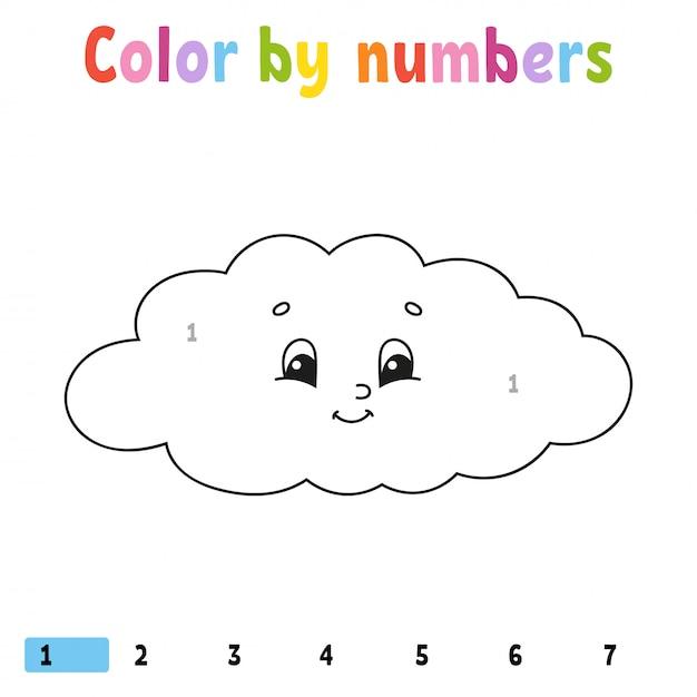 Colore a cifre. Vettore Premium