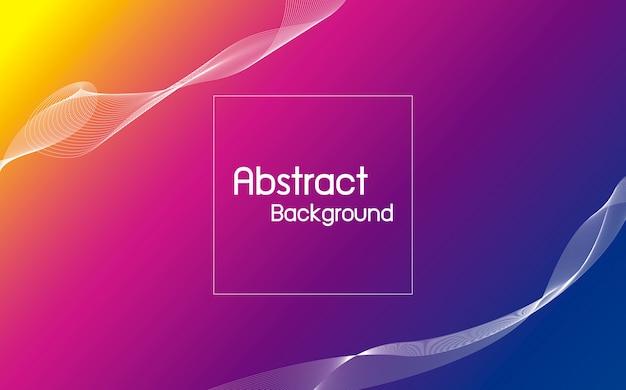 Colore astratto con sfondo di linea d'onda Vettore Premium