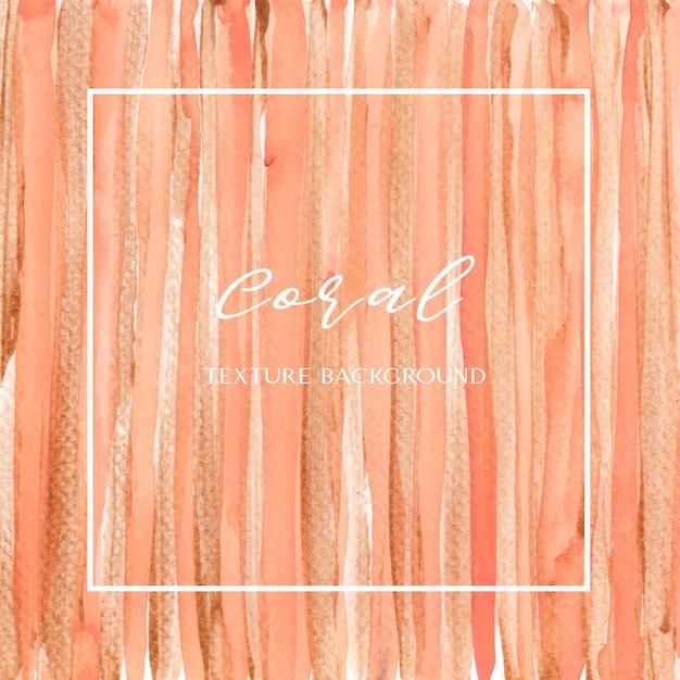 Colore di corallo acquerello di conchiglia alla moda e oro gouache texture sfondo stampa carta da parati Vettore gratuito