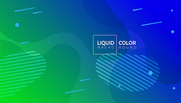 Colore fluido astratto geometrico Vettore Premium