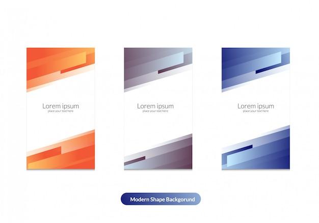 Colore moderno bacgkround per modello di storia di instagram Vettore Premium