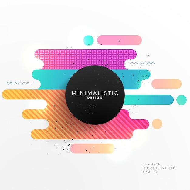 Colorful abstract forme design Vettore gratuito