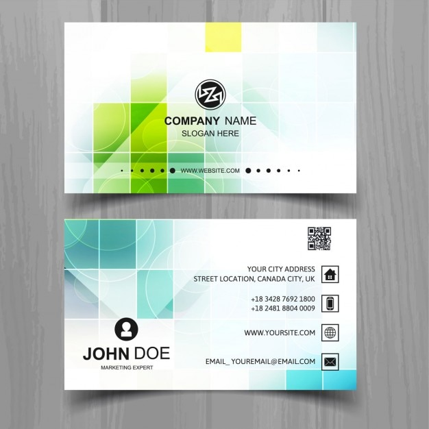 Colorful Business Card Vettore gratuito