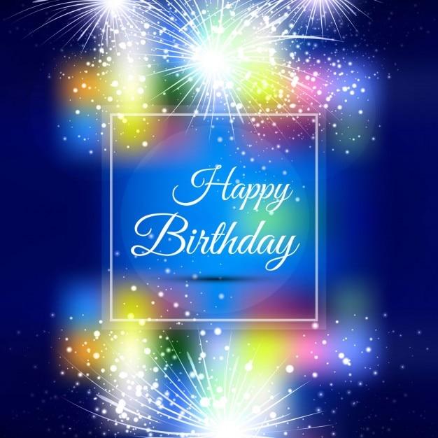 Popolare Colorful carta di buon compleanno | Scaricare vettori gratis XX38