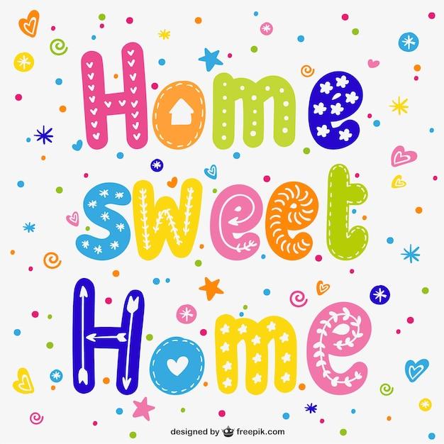 Colorful casa dolce casa Vettore gratuito