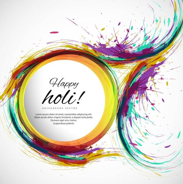 Colorful felice holi sfondo Vettore gratuito