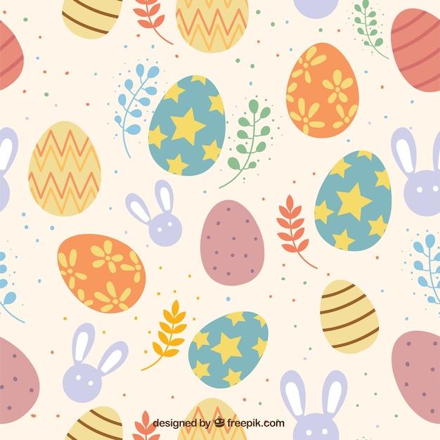 Colorful giorno di pasqua del modello scaricare vettori - Modello di uovo stampabile gratuito ...