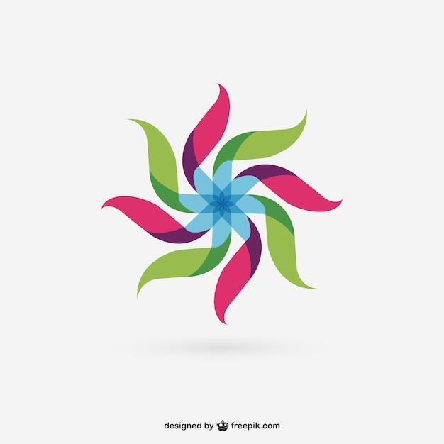 Colorful mulino a vento astratto Vettore gratuito