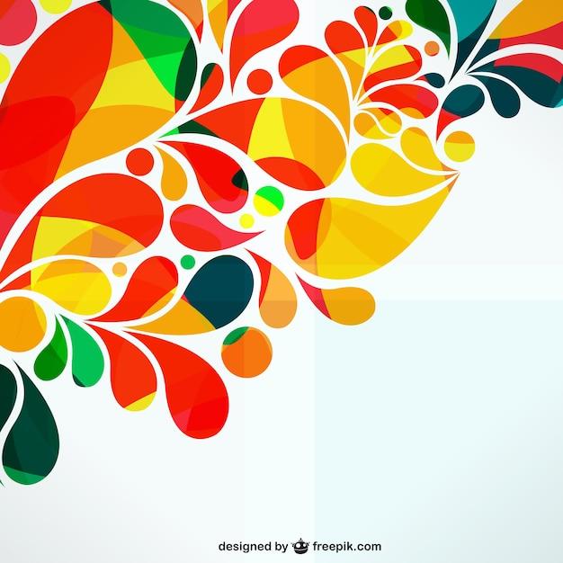 Colorful ornamentale disegno astratto Vettore gratuito