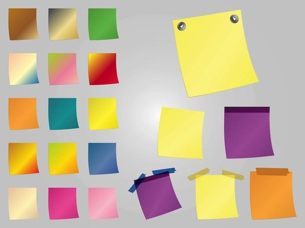 Colorful post it forniture per ufficio scaricare vettori for Forniture per ufficio