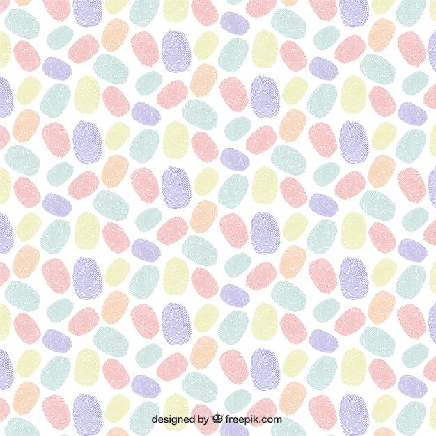 Colorful serie di impronte digitali Vettore gratuito