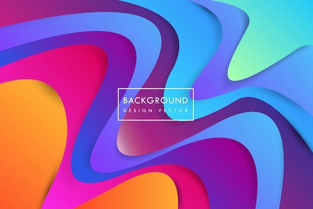 Colorfull forme astratte sfondo Vettore Premium