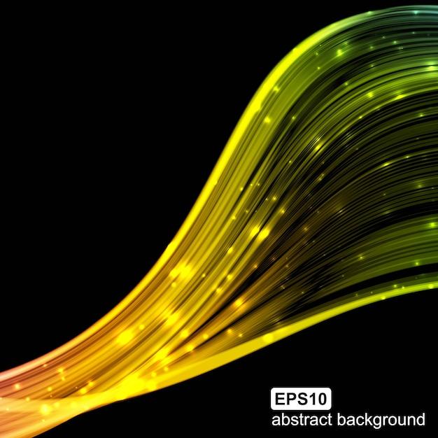 Colorfull futuristico astratto ondeggia il fondo. Vettore Premium