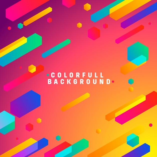 Colorfull sfondo moderno Vettore Premium