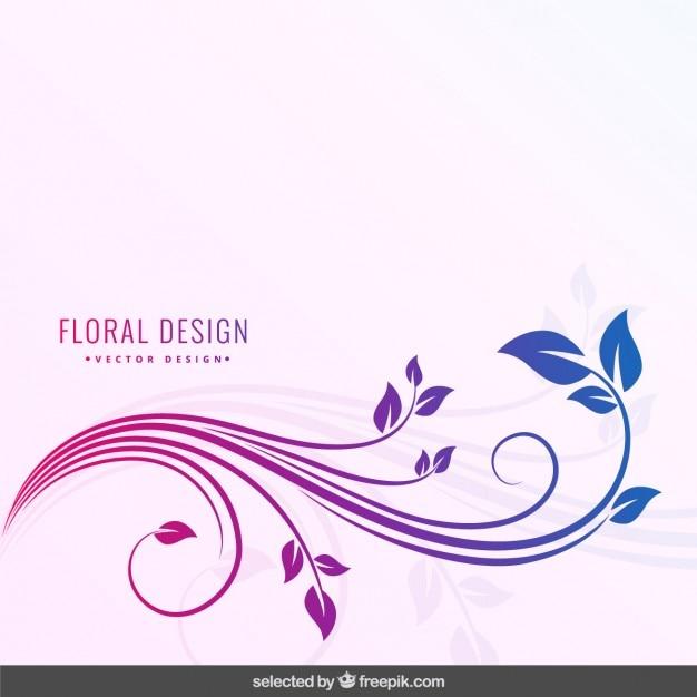 Colori degradati sfondo floreale Vettore gratuito