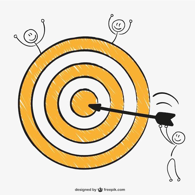 Colpo bullseye perfetto Vettore gratuito
