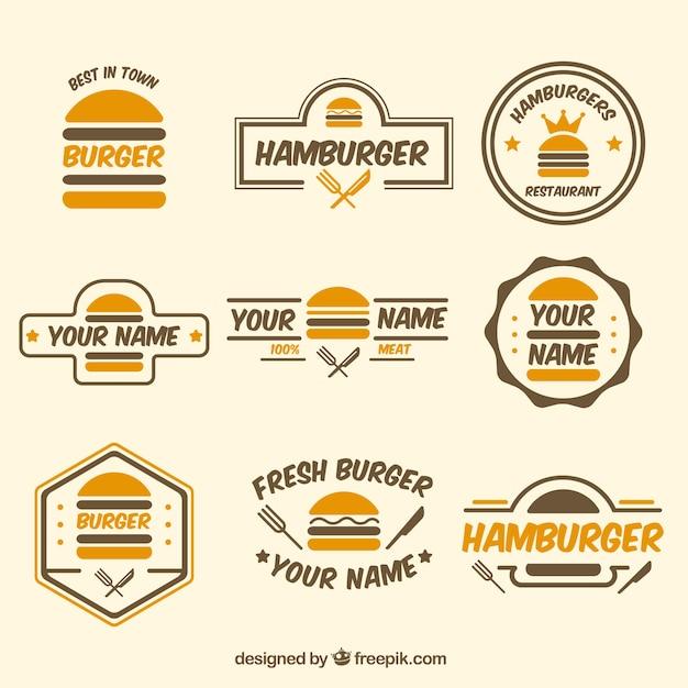 Coltura logo burger Vettore gratuito