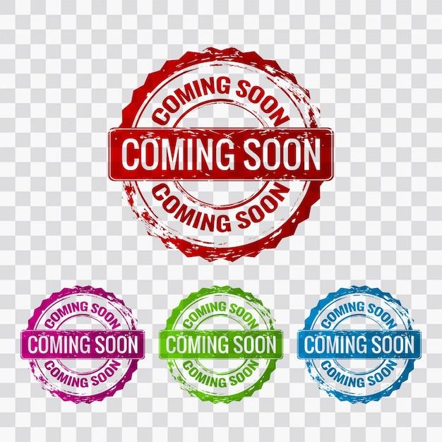Coming soon etichetta Vettore gratuito