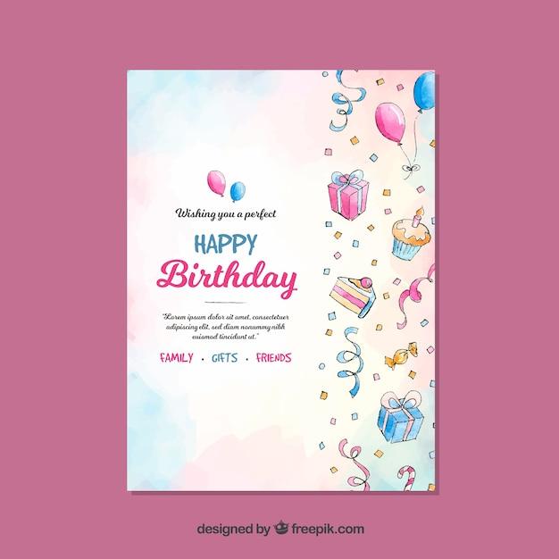 Compleanno Vettore gratuito