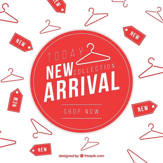 Composizione astratta nuovo arrivo con design piatto Vettore gratuito