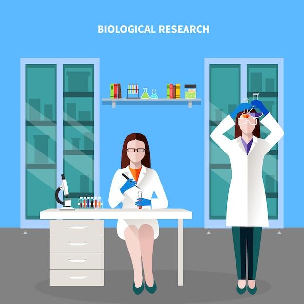 Composizione colorata persone scienziati Vettore gratuito