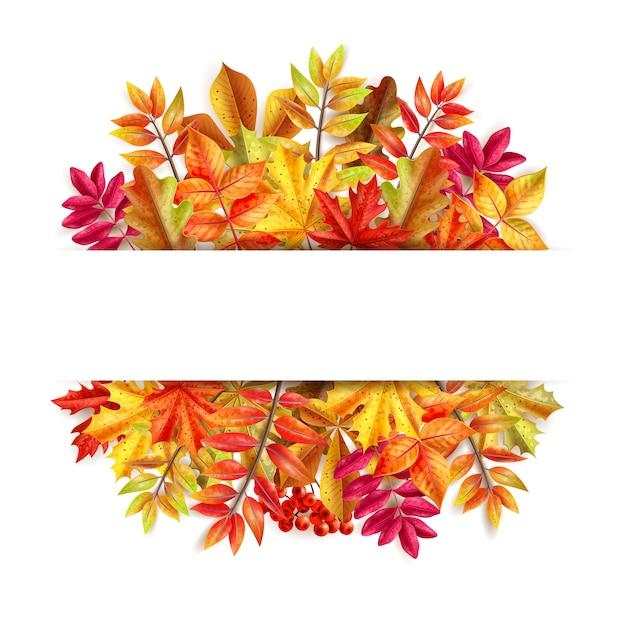 Composizione del giorno del ringraziamento con foglie colorate cornice di sfondo Vettore gratuito