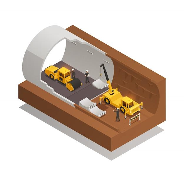 Composizione della costruzione del tunnel Vettore gratuito