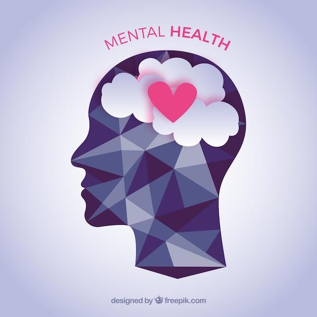 Composizione della salute mentale con design piatto Vettore gratuito
