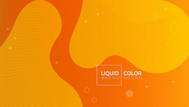 Composizione di forme fluide per brochure web Vettore Premium