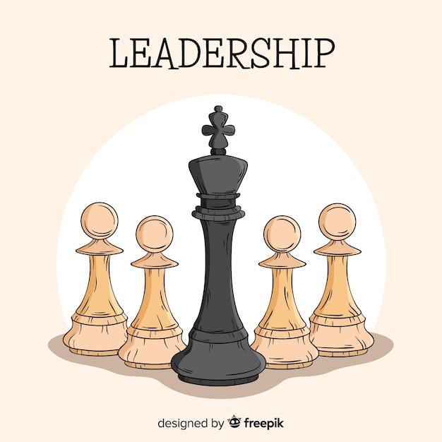 Composizione di leadership disegnata a mano originale Vettore gratuito